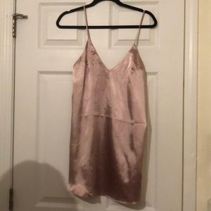 Never worn champagne silky dress